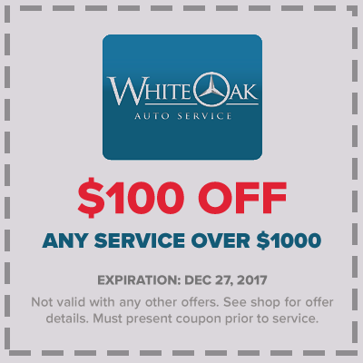 Coupons white oak auto service for Mercedes benz service promotional code